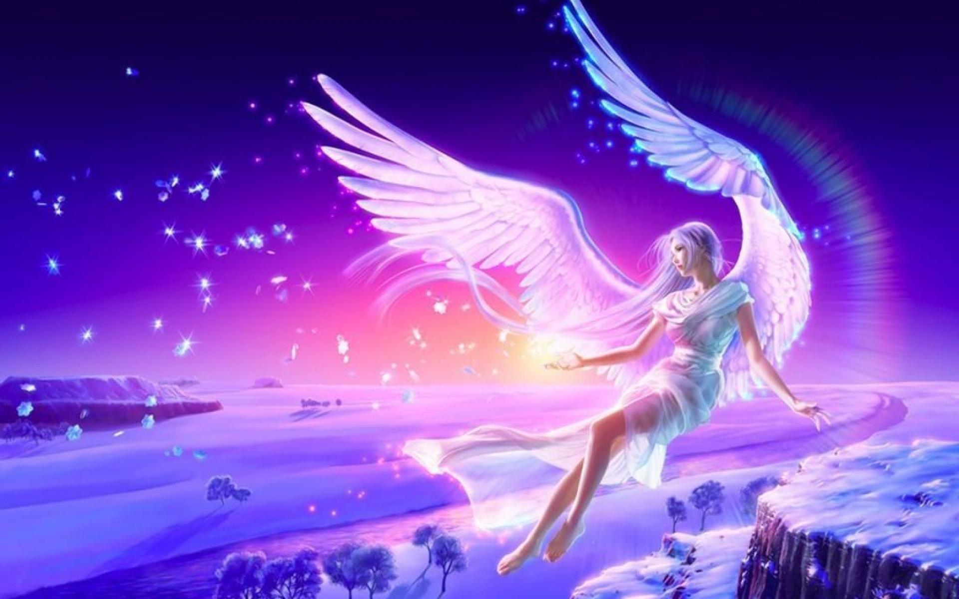 Обои на монитор | Фэнтези | девушка, ангел, арт, Кагайя