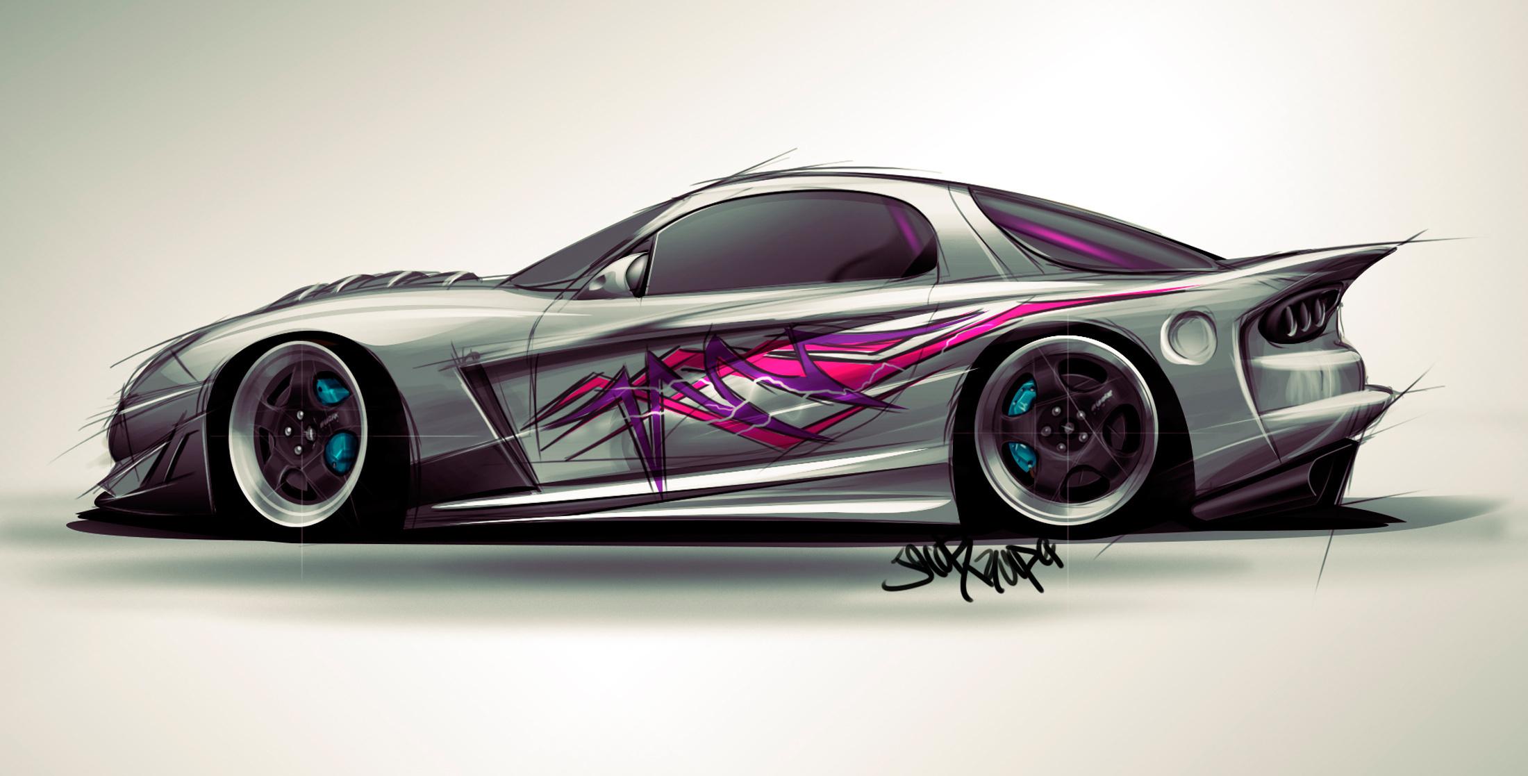 Wallpaper Cars Car Drawing