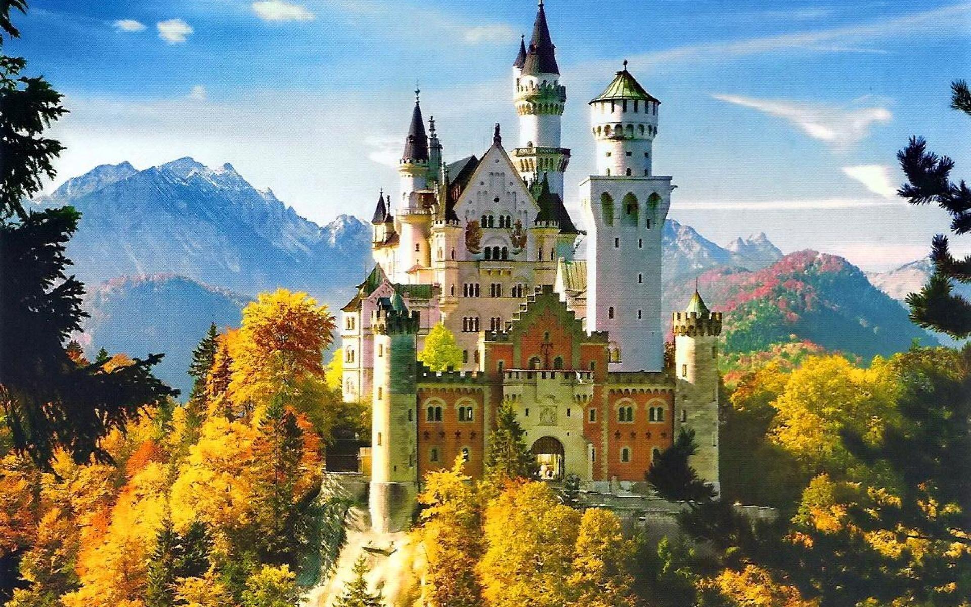 Замок дисней обои 7
