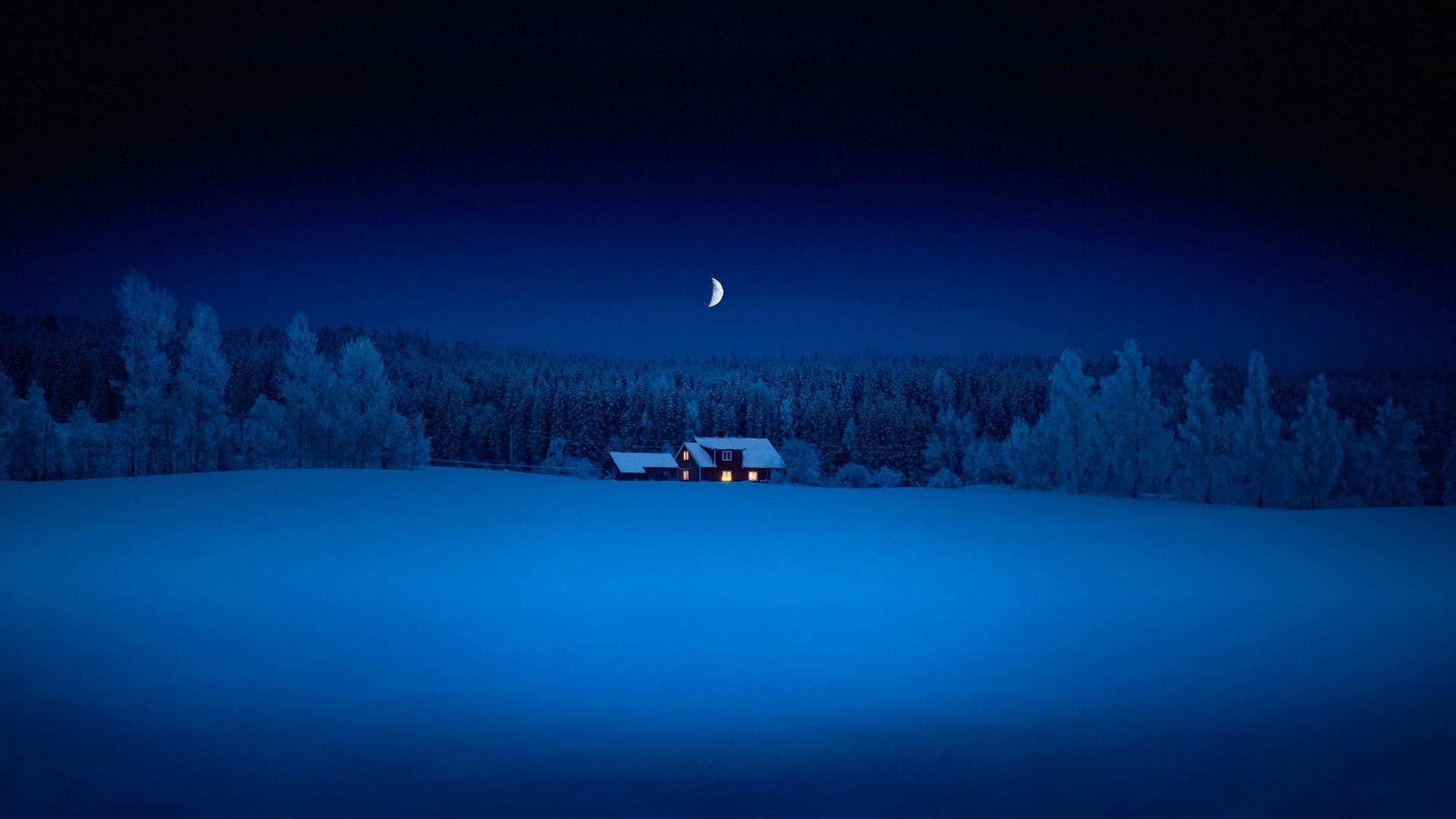 Обои Зима Темный Фон
