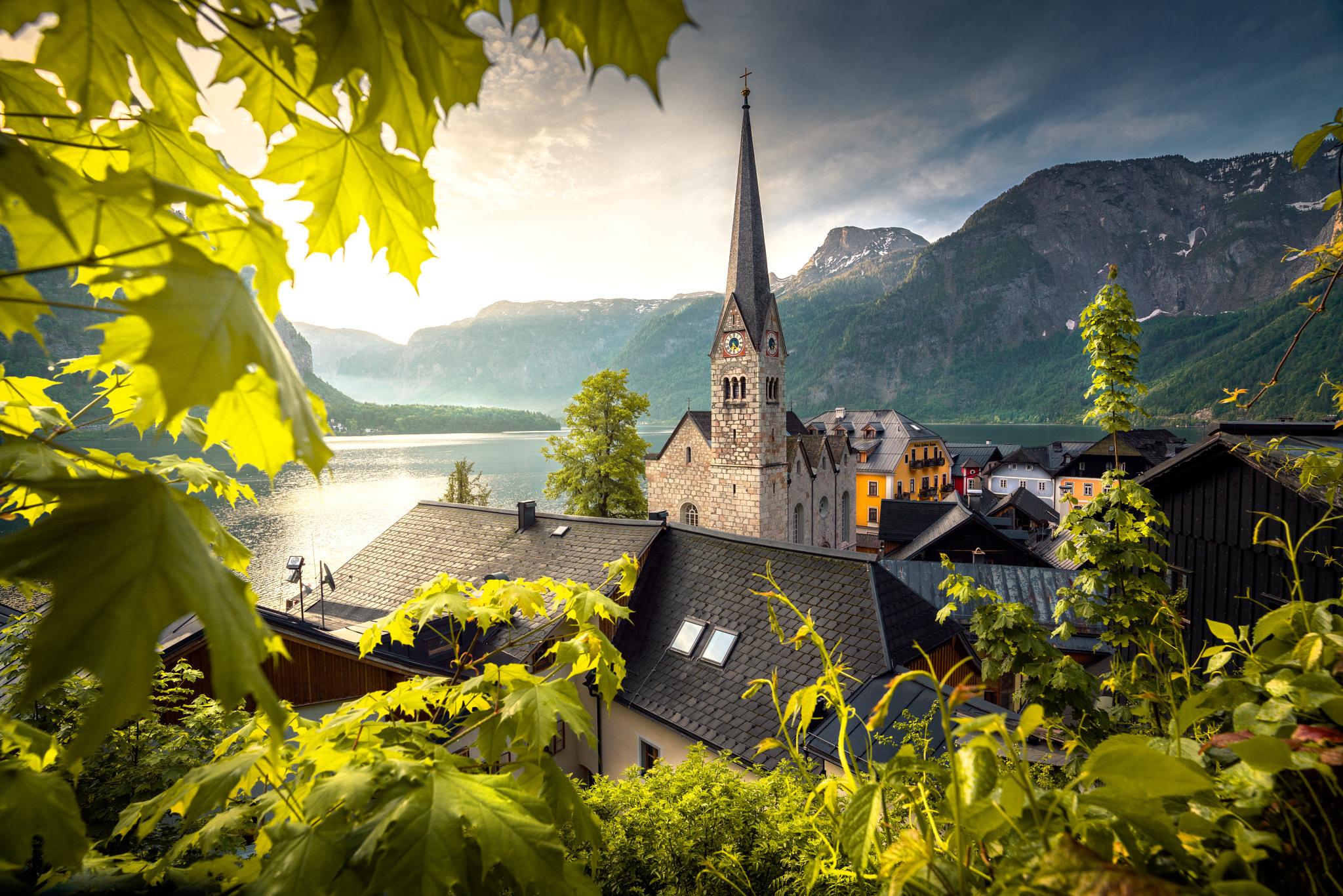 Обои австрия, гальштат, городок. Города foto 18