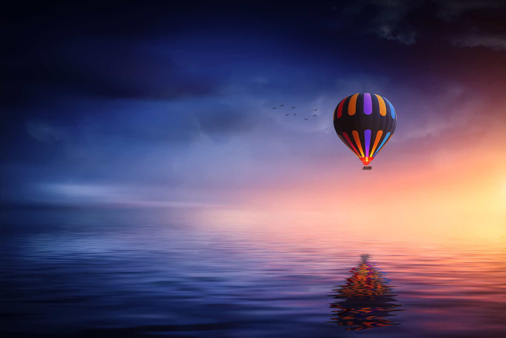 Обои воздушный шар, красиво. Города foto 19
