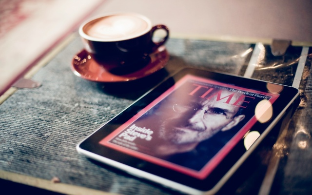 Apple, ipad, iPad, tablet, mug, coffee