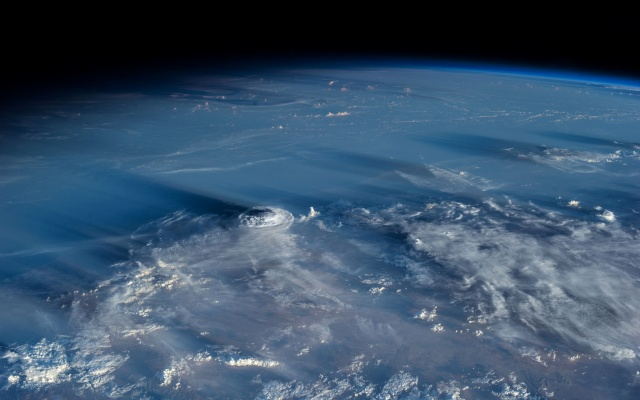space, earth, the stratosphere, clouds, beautiful, planet, earth