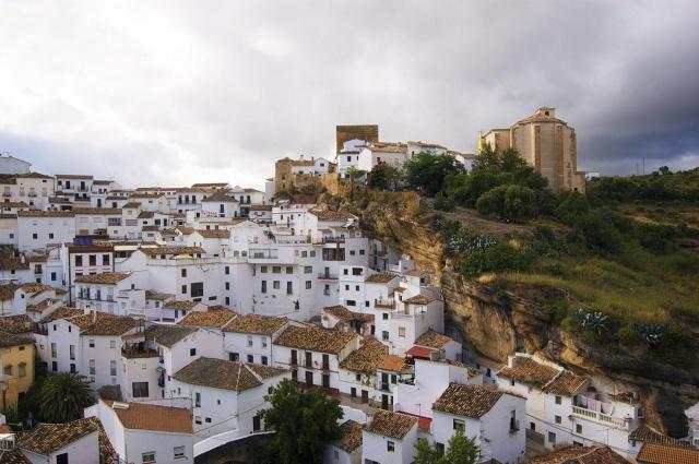 Іспанія, Андалусія, скелі, будівлі, краса, небо, зелень, прикольно