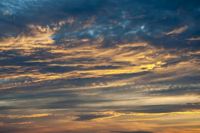 небо, облака, тучи, рассвет, солнечный свет