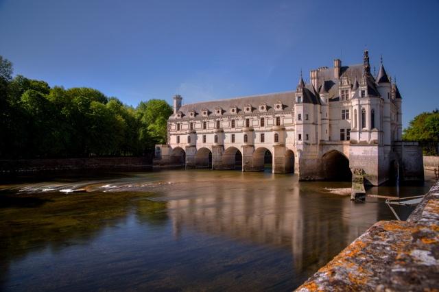 Франция, замок, замки Франции, красота, река, деревья