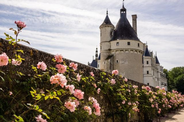 Francie, hrad, krása, zámky Francie