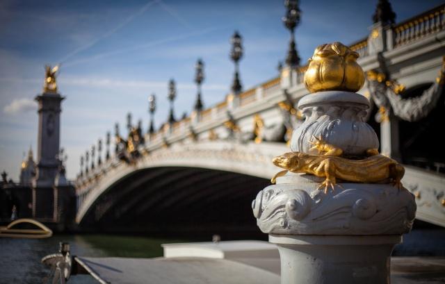 Мост Александра III, Париж, Франция, Мост Александра III, Париж, Франция, река, Сена, город