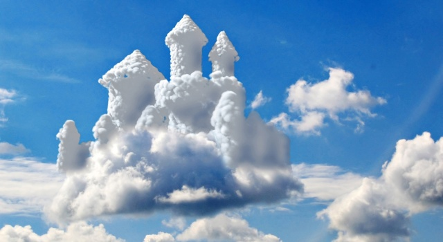 небо, облачный замок