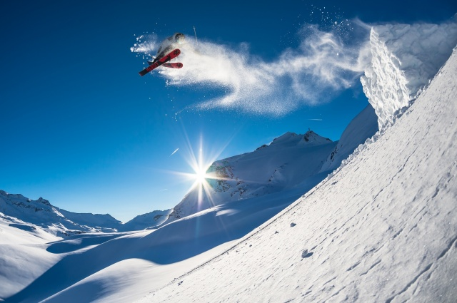 sports, winter, mountains, beautiful, extreme, the sun, photo, positive