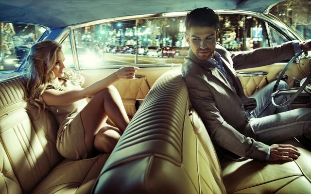 чоловік, жінка, машина