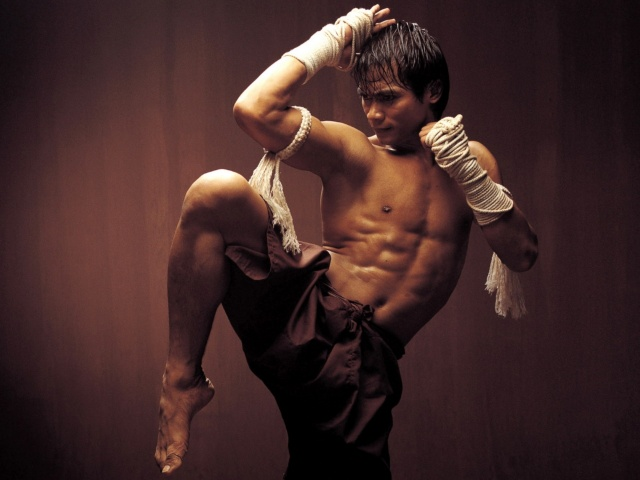 онг бак, тайский бокс, стена