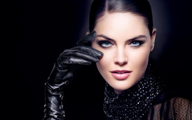 Hilary Rhoda, rukavice, pohled, úsměv, krásná dívka, obličej, sexy, kouzlo