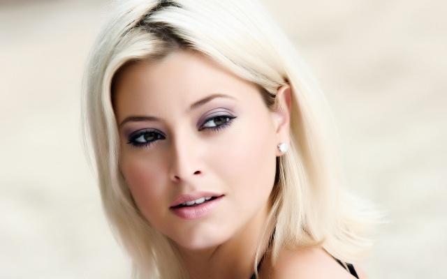 Holly Záclonka, holka, obličej, pohled, Holly Valance, zpěvačka, herečka, člověk, blond