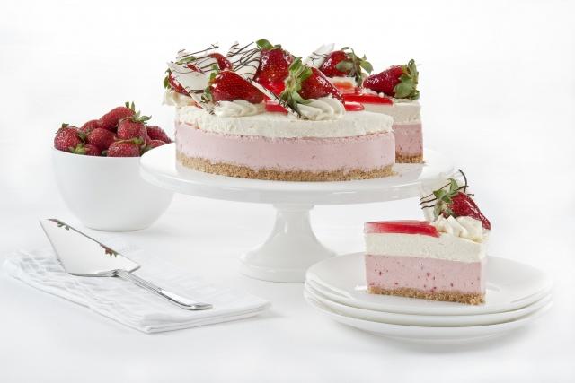 десерт, торт, пирожное, клубника, ягоды, сладкое, еда, десерт, торт