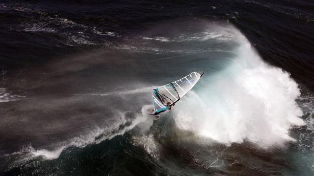windsurfing, oceán, voda, vítr