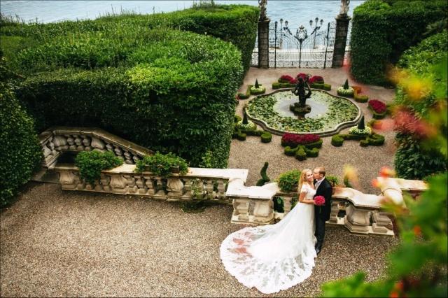 moře, vila, zahrada, šťastná nevěsta