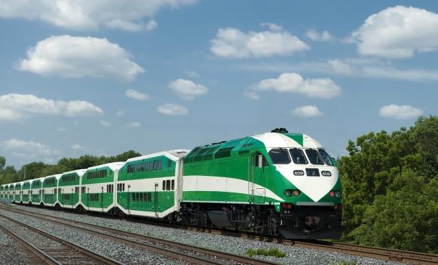 поїзд, залізничний, склад