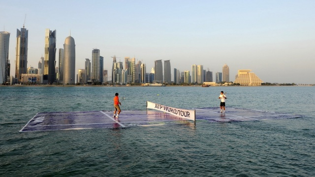 still, Federer, doha, water, tennis