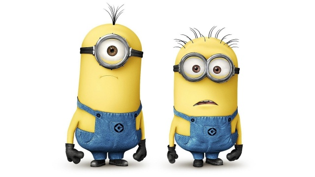 cartoon, characters, minions, despicable me, white background