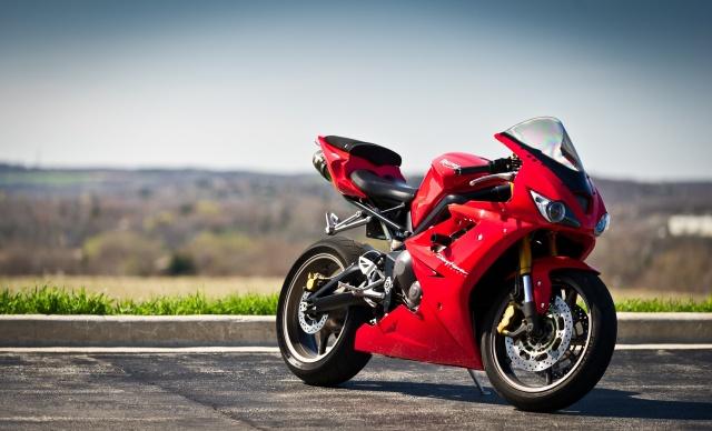 дейтона, трава, Красный, поребрик, мотоциклы, триумф