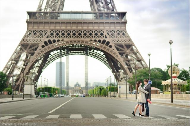 Париж, девушка, парень, свидание