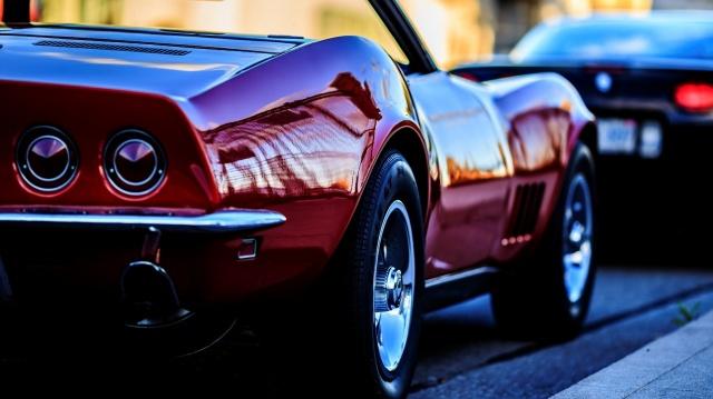 машина, Автомобиль, Chevrolet Corvette C3 Stingray, красивая, красная, колесо, колеса, макро, фон