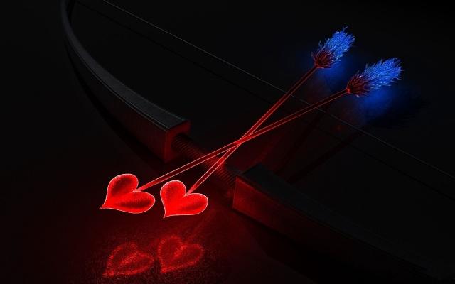 арт, робота, цибуля, стріли, серця