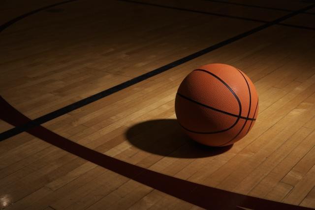 баскетбольний м'яч, зал, паркет, світло, гра