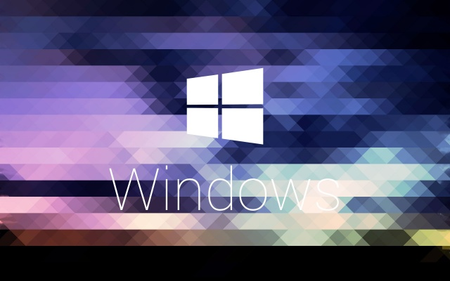 windows, microsoft, logo, logo, mosaic, texture, Color, mesh, triangles