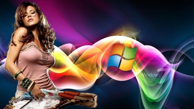 Windows, 7, background, alicia machado