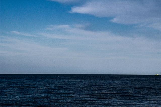 moře, nebe, léto, mraky, modrá, člun, jachta, letní, moře