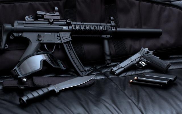 оружие, амуниция, спецназ, темный фон
