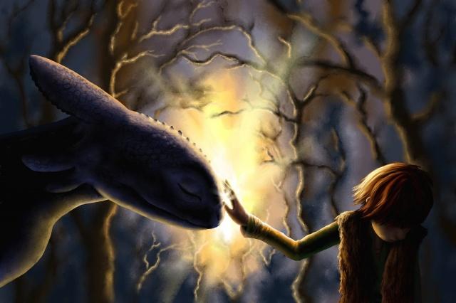 как приручить дракона, ночная фурия, мультфильм, позитивный момент, дружба, мальчик, дракон