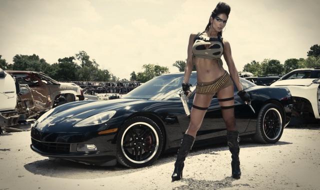 Jessica, Corvette, Auto, the gun