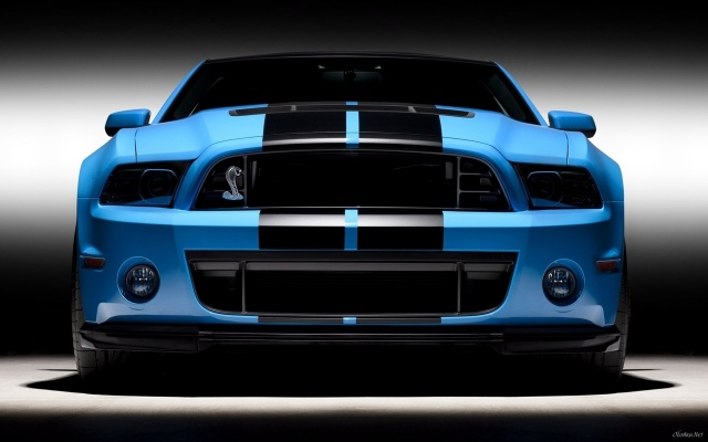 Forg, Mustang, blue, Cobra