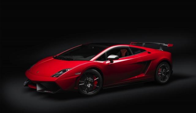 lamborghini, Lamborghini, car, Red, the dark background, red
