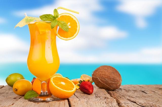 juice, oranges, lime, lemon, strawberry, coconut, delicious, summer, background