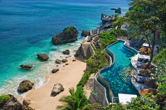 indonesia, house and comfort, tropics, the ocean, the beach, stones, rock, Paradise