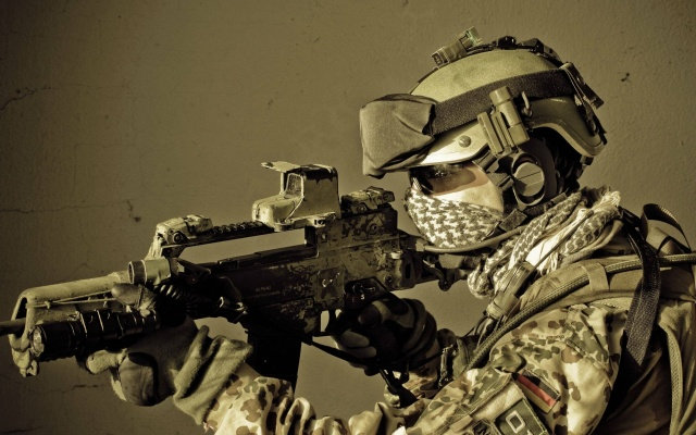 морська піхота, автомат, амуніція