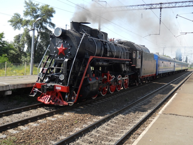 Паровоз на станції Русанівка в Києві, Паровоз в Києві