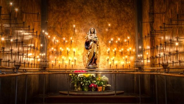 дева мария, церковь, храм, свечи, аура, добра
