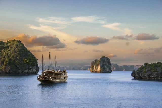 mořský vánek, loď, laguna .