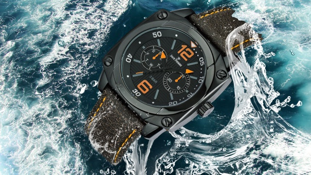 Джек Пьер, часы, вода, бренд, цифры, фотошоп
