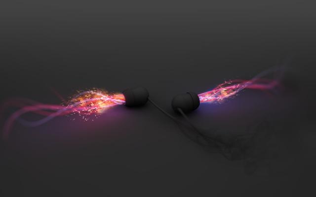 smoke, headphones