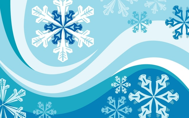 снежинки, линии, полосы, Векторная графика