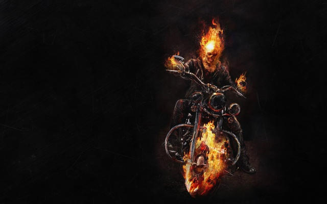 примарний гонщик, примарний гонщик, байк, скелет, вогонь