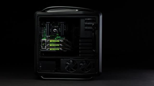 ПК, черный, Видеокарта NVIDIA, компьютер, стильный, Видеокарта GeForce GTX титан, Мощный