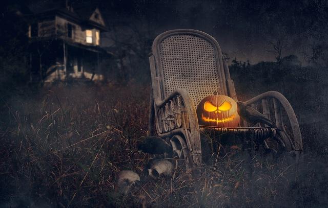 dýně, lebky, грачи, halloween, svátek, dům, Halloween